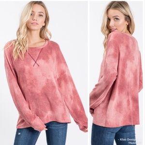 Soft Lightweight Tie-Dye Sweatshirt